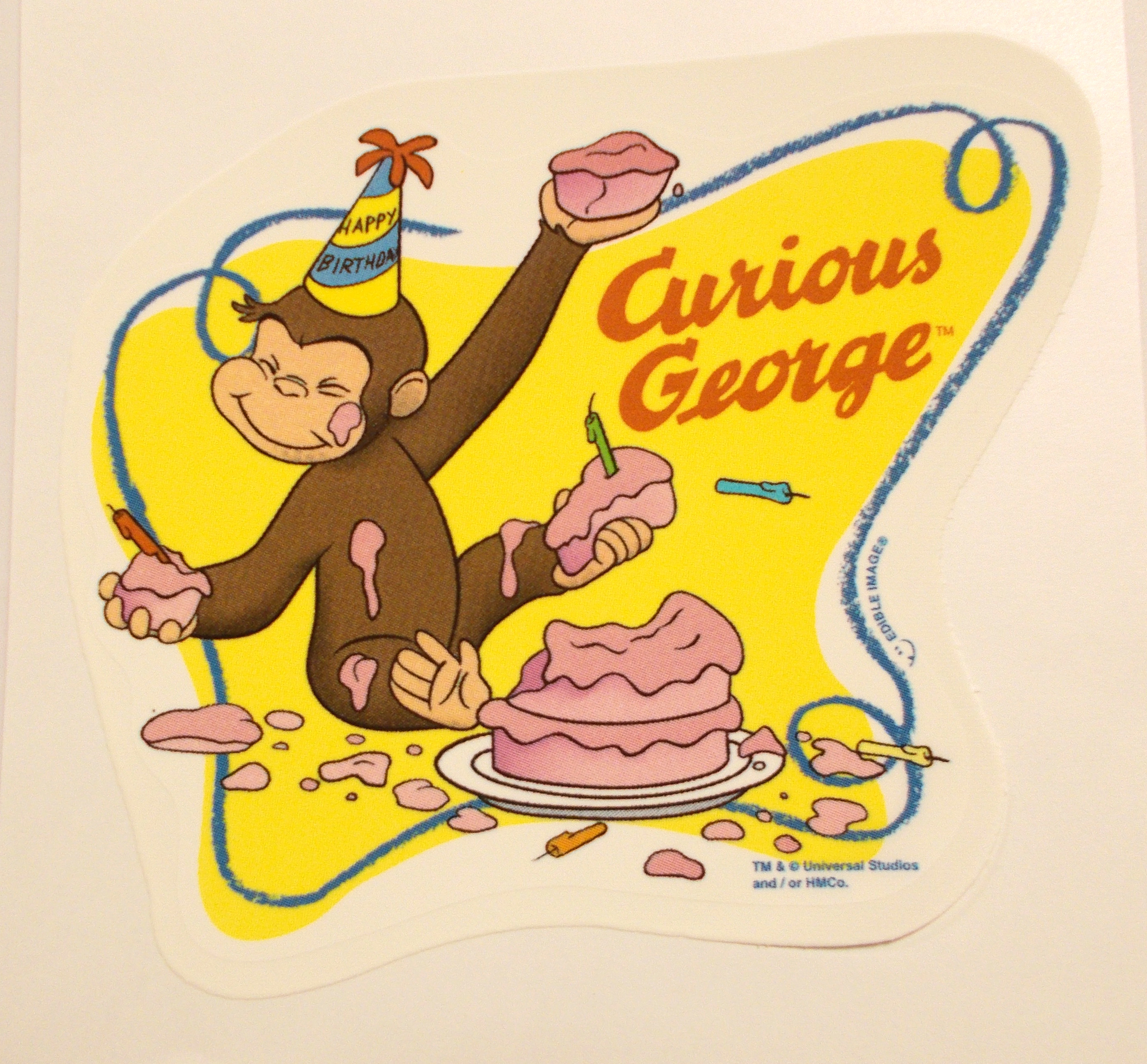Pin mask example for kids more cake on pinterest for Curious george cake template